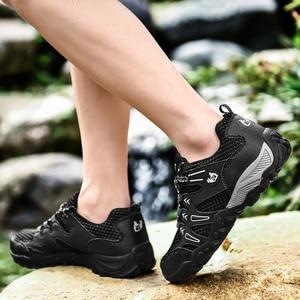 Image 3 - חדש מכירה לוהטת סופר אור נעליים יומיומיות גברים קיץ לנשימה ספורט נעלי ריצה רך נוח Mesh סניקרס שחור הנעלה 47