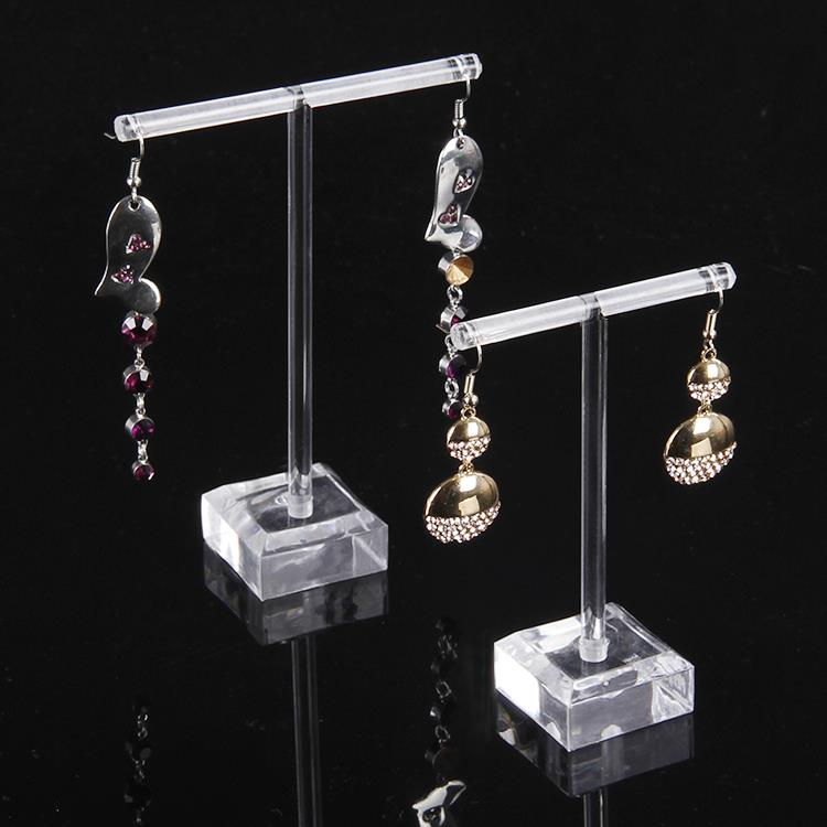 Superior  Acrylic Earring Dislay Stand Set Earring Stud Holder Earring Showing Rack Showcase 2pcs/set