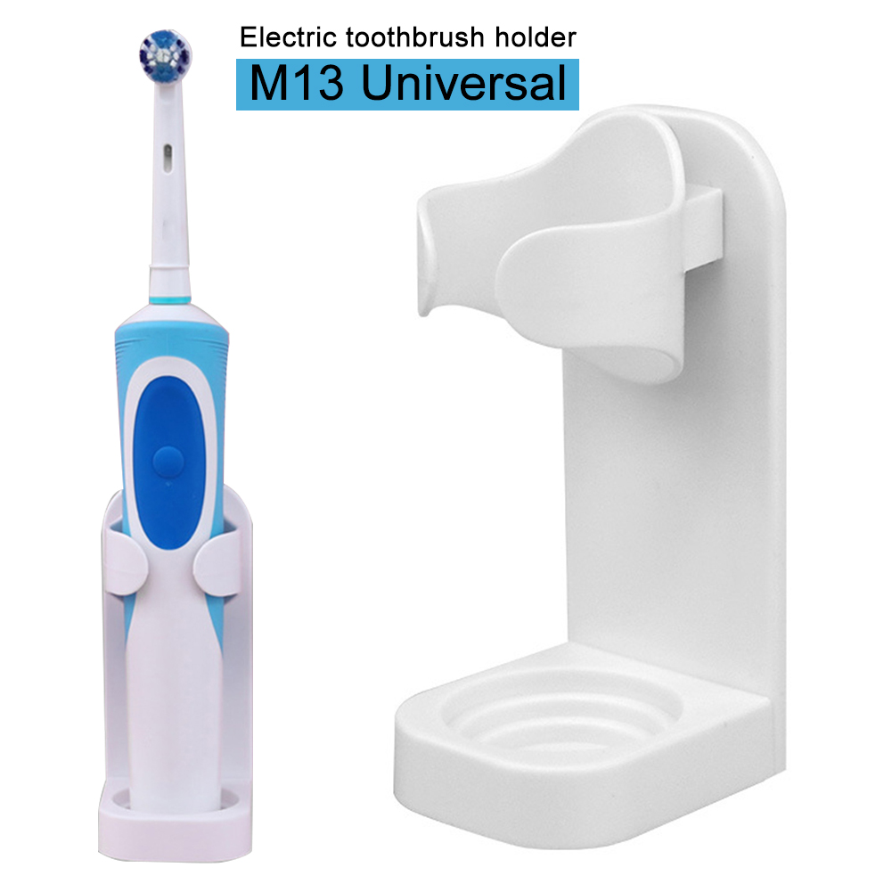 Self Adhesive Antibacterial Bathroom Hygienic Space Saving Modern Traceless Stand Electric Toothbrush Holder Wall Mounted Hanger image