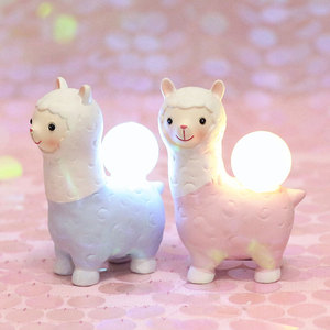 Pink Blue Alpaca Led Night Lig