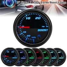 2 52mm Turbo Boost Gauge Vakuum Manometer 0 ~ 30 PSI /  1 ~ 2 Bar 7 farbe LED Schwarz Len 12V Universal Auto Boost Zeiger Meter