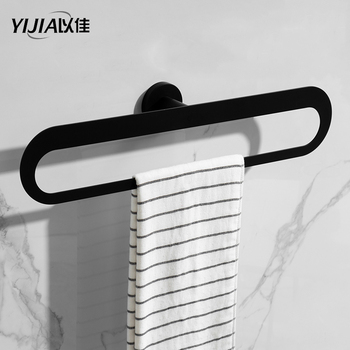 Stainless Steel Towels Storage Shelf Rack Wall Mounted Hanging Rail for Bathroom Kitchen Towel Hanging Holder Rack Black