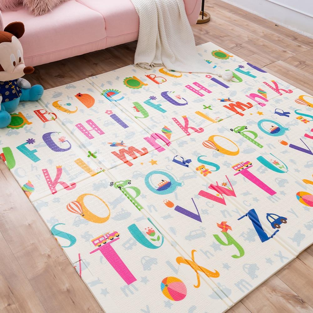 Bebê rastejando esteira xpe macio dobrável atividade esteira bebês ginásio tapete do miúdo jogo cobertor quebra-cabeça tapete à prova dplayágua playmat para criança