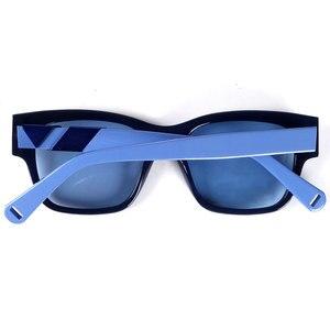 Image 2 - Frauen marke designer acetat sonnenbrille blau linsen 100% UV 400 schutz
