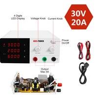 30V 20A Bench Power Supply Adjustable LED Digital DC Lab Switching Voltage Regulators Bench Power Source 220V EU