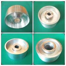 Voll Aluminium Fahren rad Fahren rad Sand maschine polieren rad für gürtel maschine mit Nut