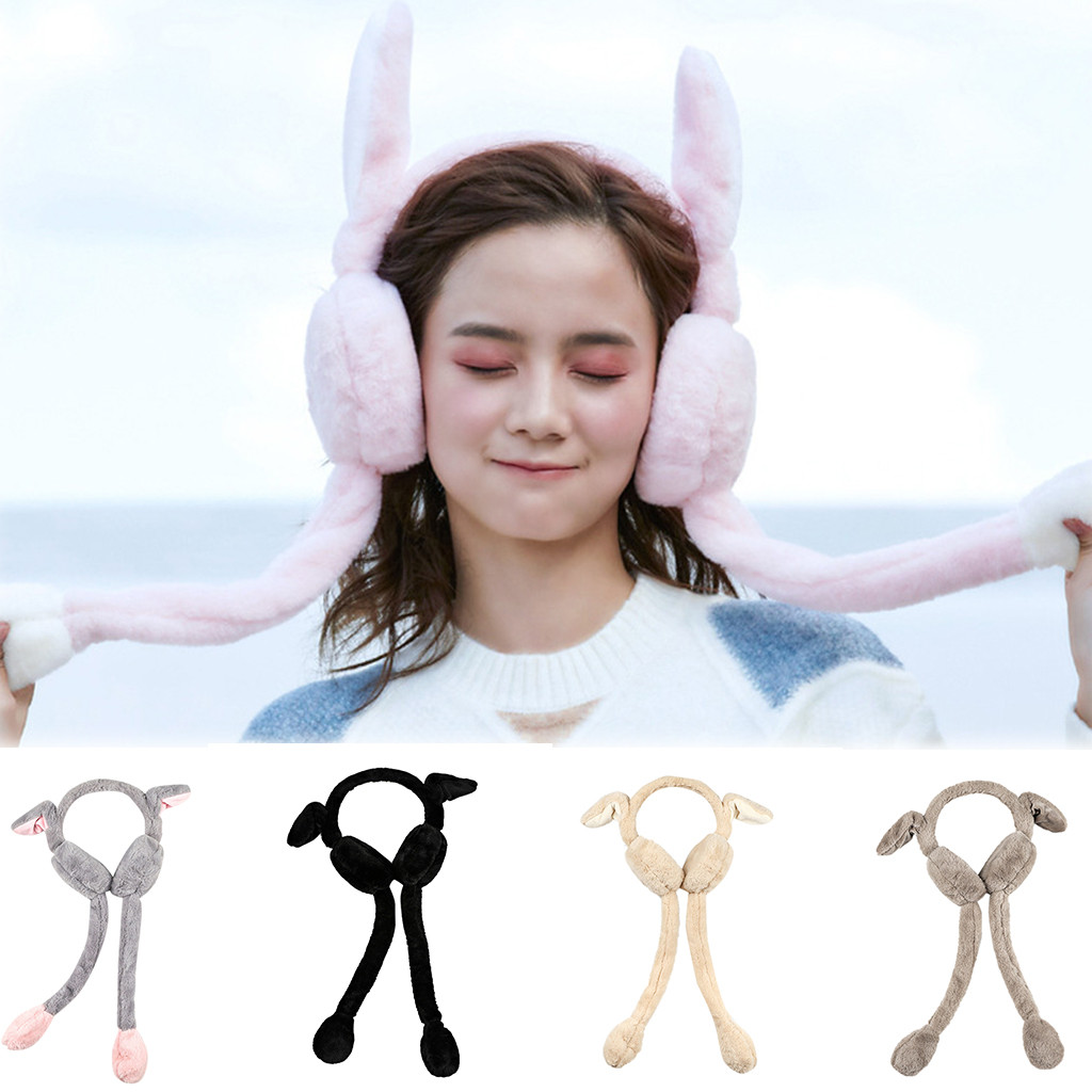 Unisex Foldable Winter Earmuffs Winter Windproof Ear Warmer Moving Earmufuffs Plush Female Earmuff Warm Ear Muffs Headphones 30H