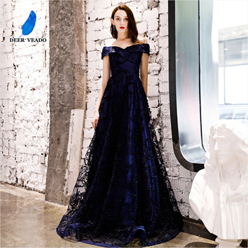 DEERVEADO YS454P Long Prom Dresses 2020 New Collection Tulle Lace Up Back Formal Dress Woman Evening Party Gown - sale item Special Occasion Dresses