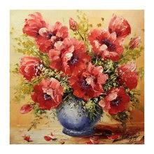 Полная Алмазная вышивка цветок ваза 5d алмазная живопись крестиком