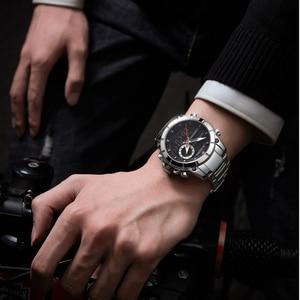 Image 5 - ファッション naviforce 男性高級新デザイン防水時計男性のステンレス鋼腕時計リロイ hombre クォーツ時計男性
