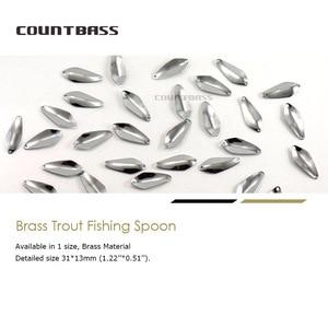 Image 5 - 50pcs Brass Salmon Fishing Spoon Blanks SP013  2.4g ( 3/32oz) , Bass Pike Lure Baits Unpainted