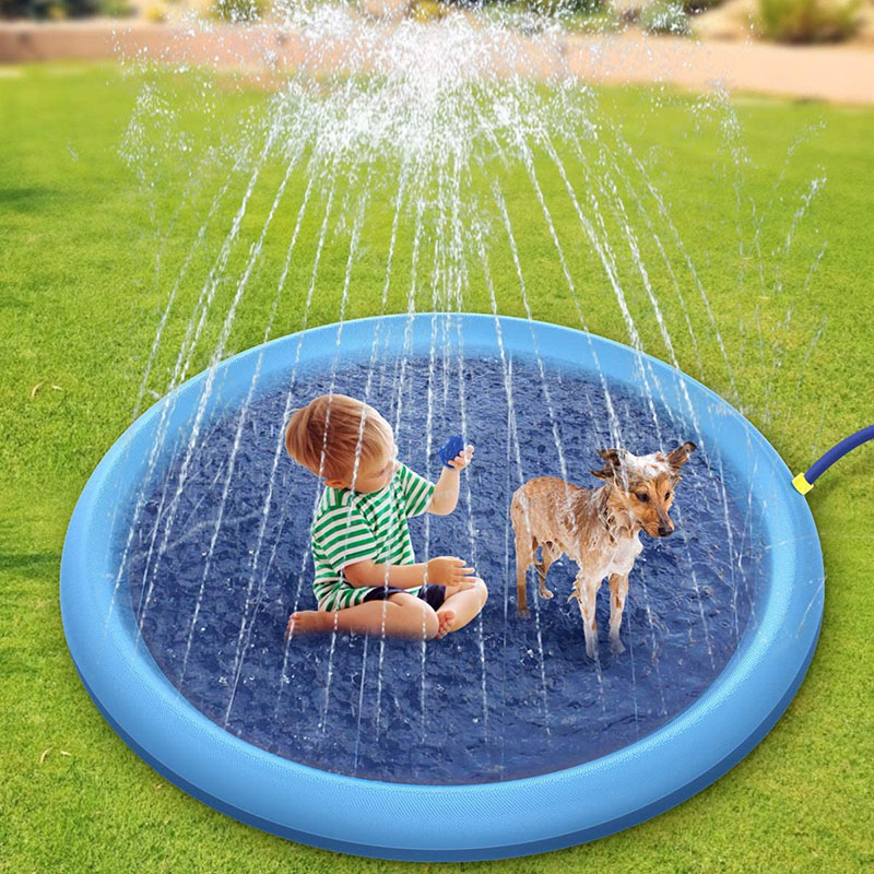 puppy play pool,splash pad,interactive dog water toy