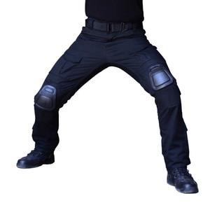 Image 1 - 위장 전술 복장 무릎 패드와 군사 바지 남자 전술화물 바지 군인 미국 육군 바지 Paintball Airsoft
