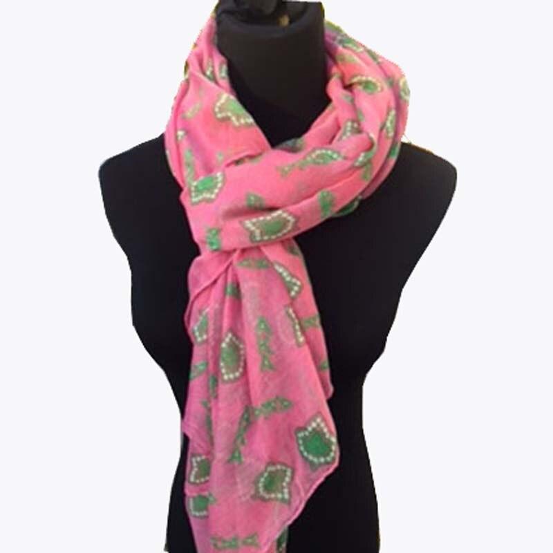 Topvesko Drop shopping Lady Womens Sorority AKA Pink Ivy   Scarf   Long   Scarf     Wraps   Shawl   Scarves   Greek