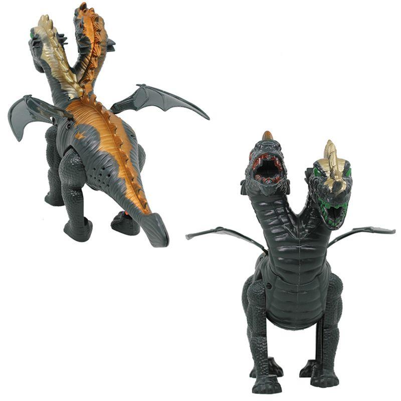 Two Head Electric Light Sound Dinosaur Toys Boy Toy Gift Jurassic 72XC