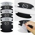 4x углеродного волокна двери автомобиля Стикеры дверная ручка Защитная пленка для Mazda 2, 3, 5, 6, 8, CX5 CX-5 CX-7 CX-9 MX-5 ATENZA авто аксессуары