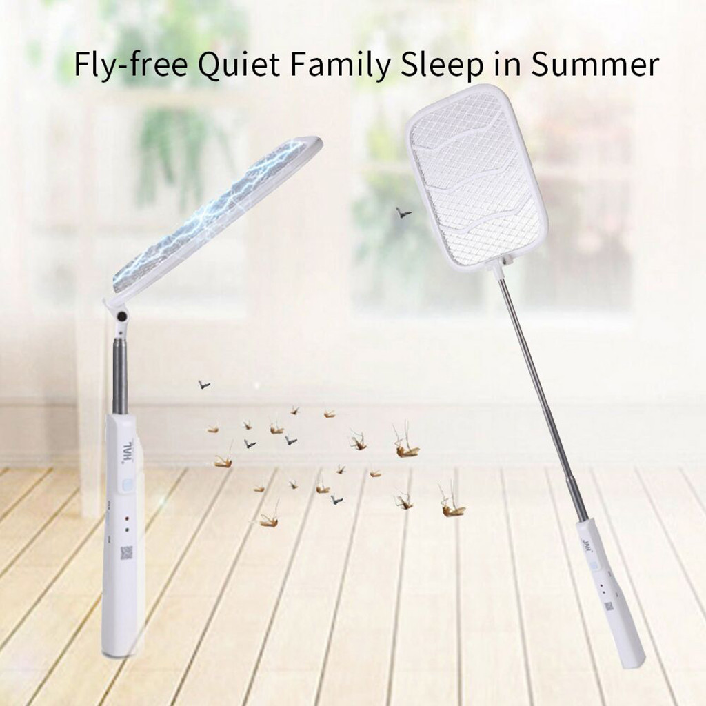 Rechargeable Collapsible Retractable USB Charging Fly Mosquito Swatter электромухобойка мухобойка электрическая мухобойка