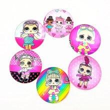 10 шт. дизайн мультипликационные куклы, единорог, фламинго, KT Cats, мышь, принцессы, 20 мм стеклянный кабошон для девочек DIY ювелирные изделия