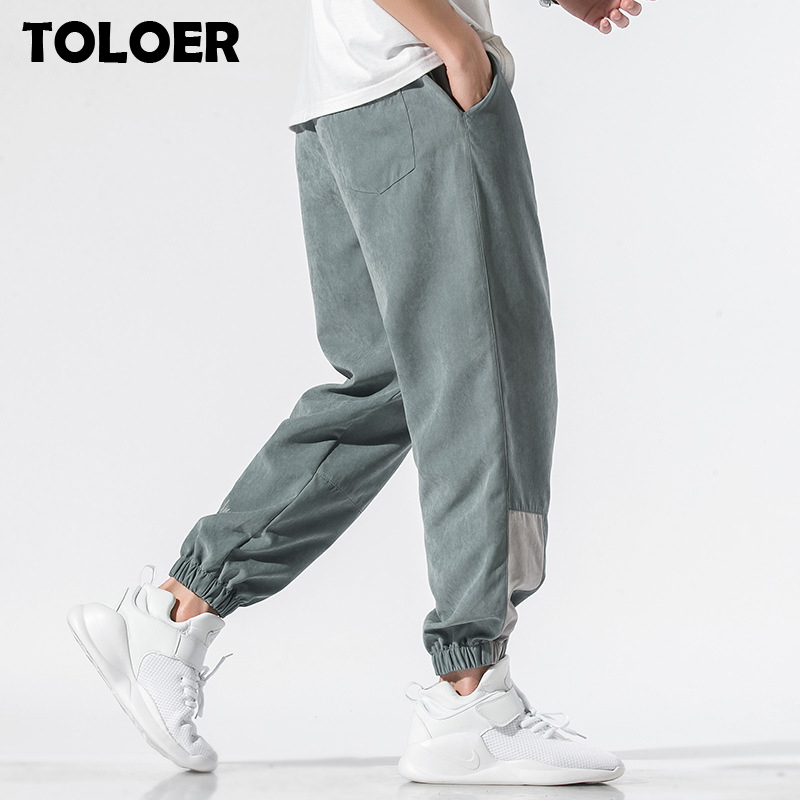Design Super Men Sweatpants In Pure Color Loose Fit Retro Style Mens Sweatpants Street Wear Men Harem Pants Korean Style Clothes