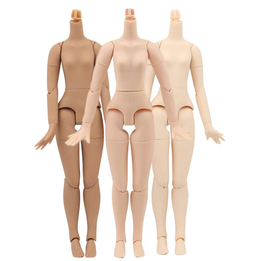 Azone S Blyth маленькая грудь, черная, белая, натуральная кожа, BJD, сделай сам, многоугольный, встряхивающий шею