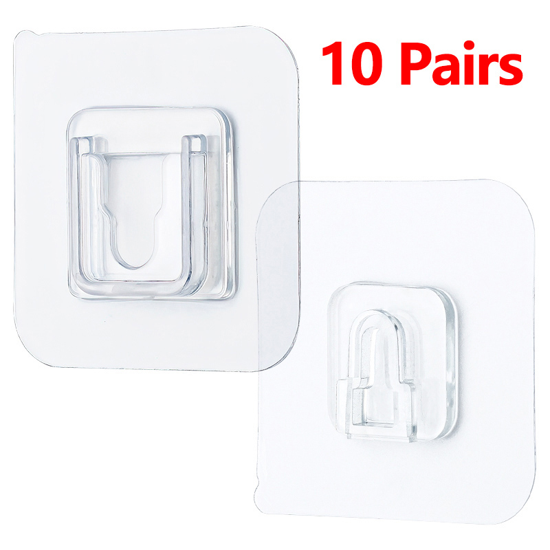 Double-Sided Adhesive Wall Hooks Hanger Strong Transparent Hooks Suction Cup Sucker Wall Storage Holder For Kitchen Bathroo 6f6cb72d544962fa333e2e: 6cmX6cm