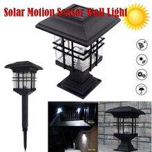 40# солнечная энергетическая головная лампа открытый водонепроницаемый настенный светильник-бра декоративный внутренний двор колонна голова Газон лампа настенная головная лампа для дома