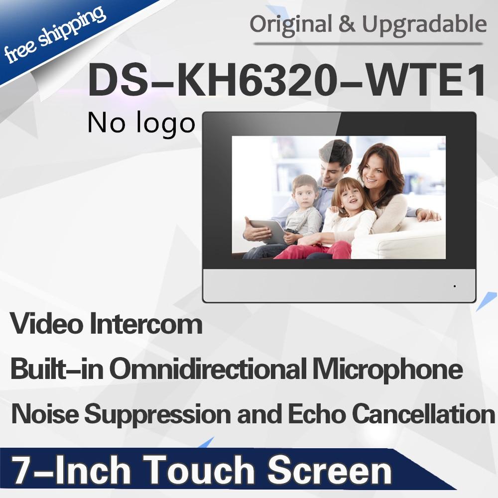 Original International Version DS-KH6320-WTE1 Wifi Indoor Monitor POE, Wireless Video Intercom No Logo