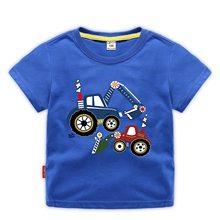 OLEKID 2021 Summer Boys Clothes Cartoon Short Sleeve Cotton T-shirt For Boys 1-12 Years Kids Teenage Boys Tops Baby Boy T Shirt