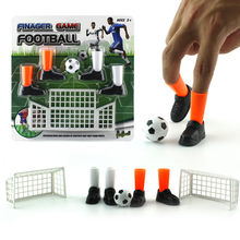 Ideal Party Finger Soccer Match Toy Funny Finger Toy Game Sets With Two Goals Creativity Education gift for kid Hot sale Toys(China)