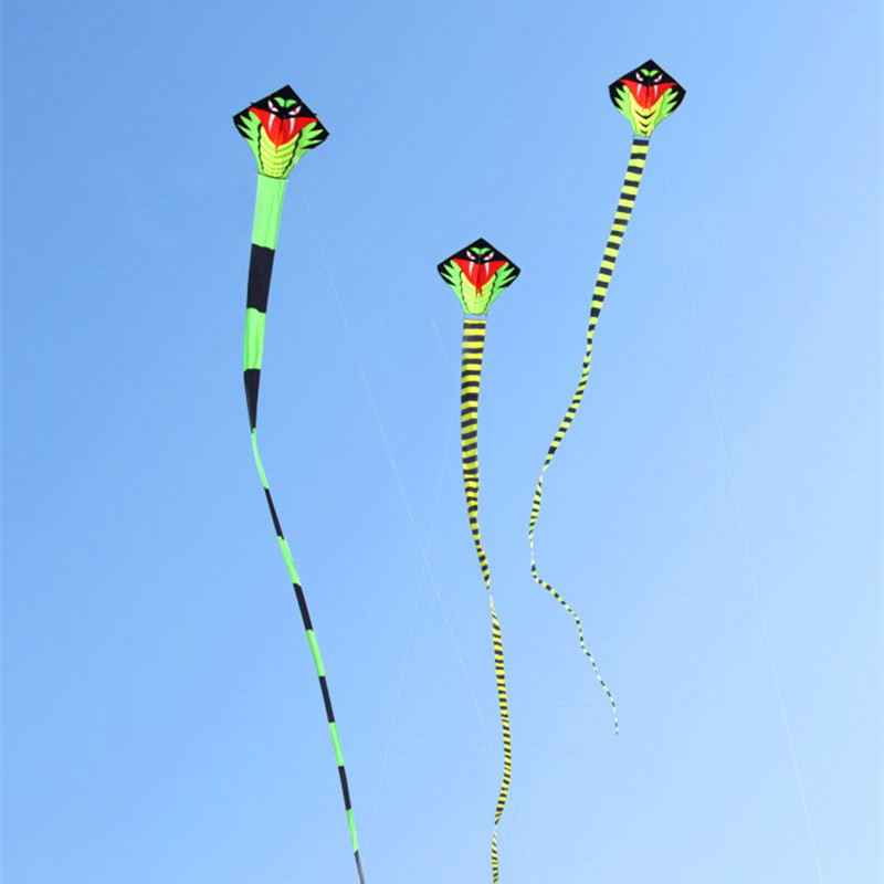 Free Shipping High Quality Large Snake Kite Fly Line Ripstop Nylon Outdoor Toys Kids Kites Factory Kite Wheel Eagle Bird New Hot