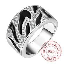 Bagues en Argent Sterling 925 pour hommes et femmes, de haute qualité, Double croix en cristal Cz Infinity, 925