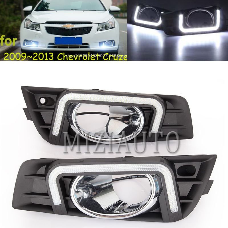 2 pcs Fit for <font><b>Chevrolet</b></font> <font><b>Cruze</b></font> daytime <font><b>running</b></font> <font><b>light</b></font> car accessories LED DRL headlight for <font><b>Cruze</b></font> fog <font><b>light</b></font> 2009 -2014 3 Color image