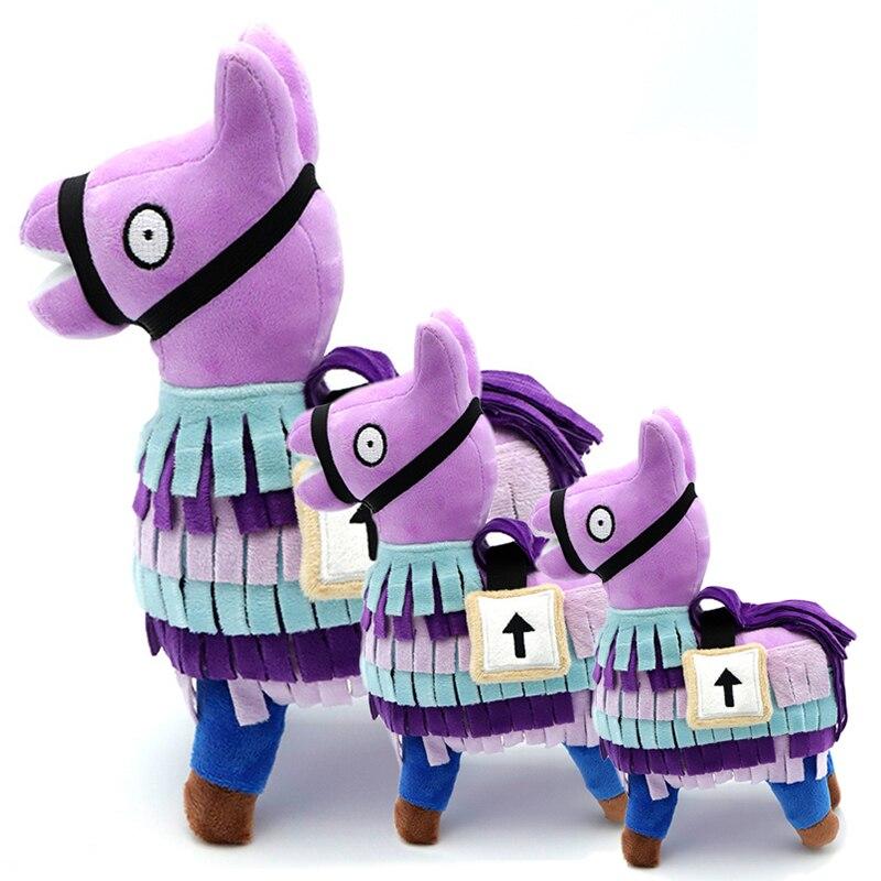 20/25/34 см Fortnite см плюшевая игрушка тайник ламы мягкая Альпака аниме Рисунок Радуга лошадь мягкие игрушки для детей, подарок на день рождения