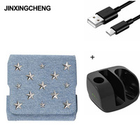 JINXINGCHENG Fashion 5 Colors Star Style Flip Magnet Pouch Case for Iqos 3.0 Wallet Leather Cases + Fast Charger for Iqos3|CD/DVD Player Bags|   -
