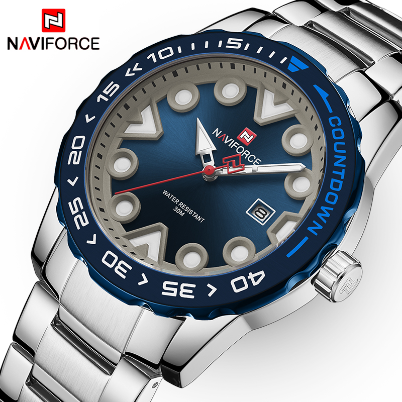 Relogio Masculino NAVIFORCE Waterproof Sport Watch Men Luminous Pointers Quartz Wristwatches Top Brand Luxury Male Clock Watches