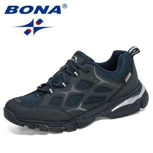 Image 2 - BONA 2019 นักออกแบบใหม่วัวแยกตาข่ายรองเท้าวิ่งชายรองเท้า Low Top นักเรียนกีฬาการฝึกอบรมรองเท้าผ้าใบ Man Jogging กีฬารองเท้า
