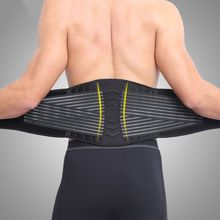 Waist Support Belt Lumbar Back Protection Brace Breathable Adjustable Elastic 8 Springs Plate Gym Fitness Training Weig
