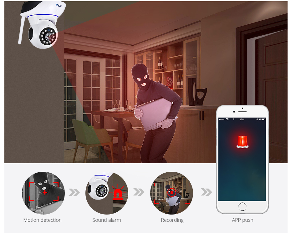 Hd215c816045541ceac05b0c884179b38t KERUI 720P 1080P HD Wifi Wireless Home Security IP Camera Security Network CCTV Surveillance Camera IR Night Vision Baby Monitor