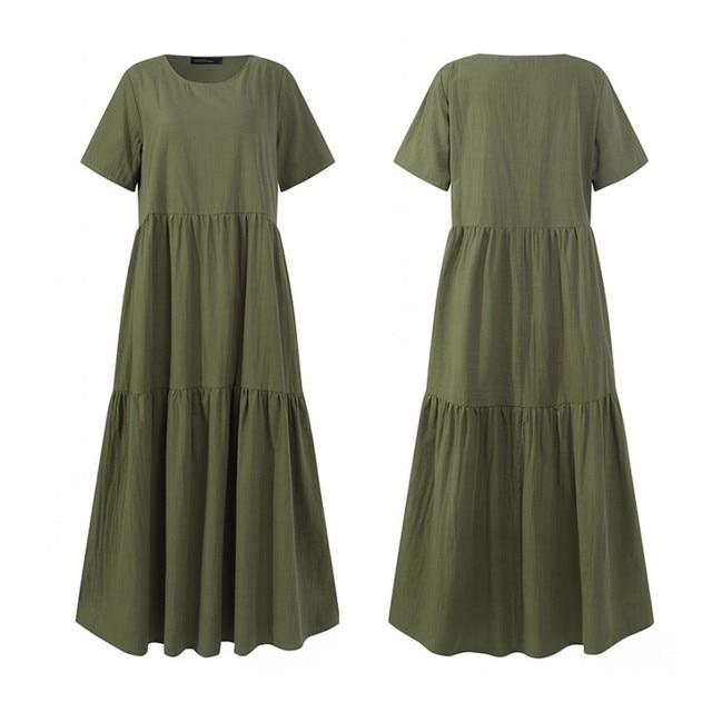 boho casual dress, loose and comfortable 5