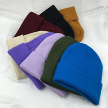 цены на Wool Knitted Beanies Unisex Solid Tall Casual Skullies Men Women Street Hip Hop Skullcap Elastic Hats Fashion Warm Autumn Winter  в интернет-магазинах