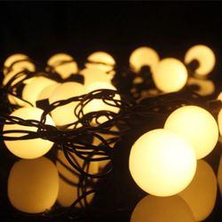 LED kolorowe lampa miga światła ciąg światła 4cm 4cm duży okrągła kula podwójne lampy błyskowej boże narodzenie ślub Bar wakacje w stylu art Deco w Girlandy świetlne od Lampy i oświetlenie na