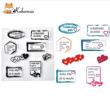 Kokorosa Clear Simple Words Stamps Rubber Stamp  Scrapbooking Album Decor Transparent