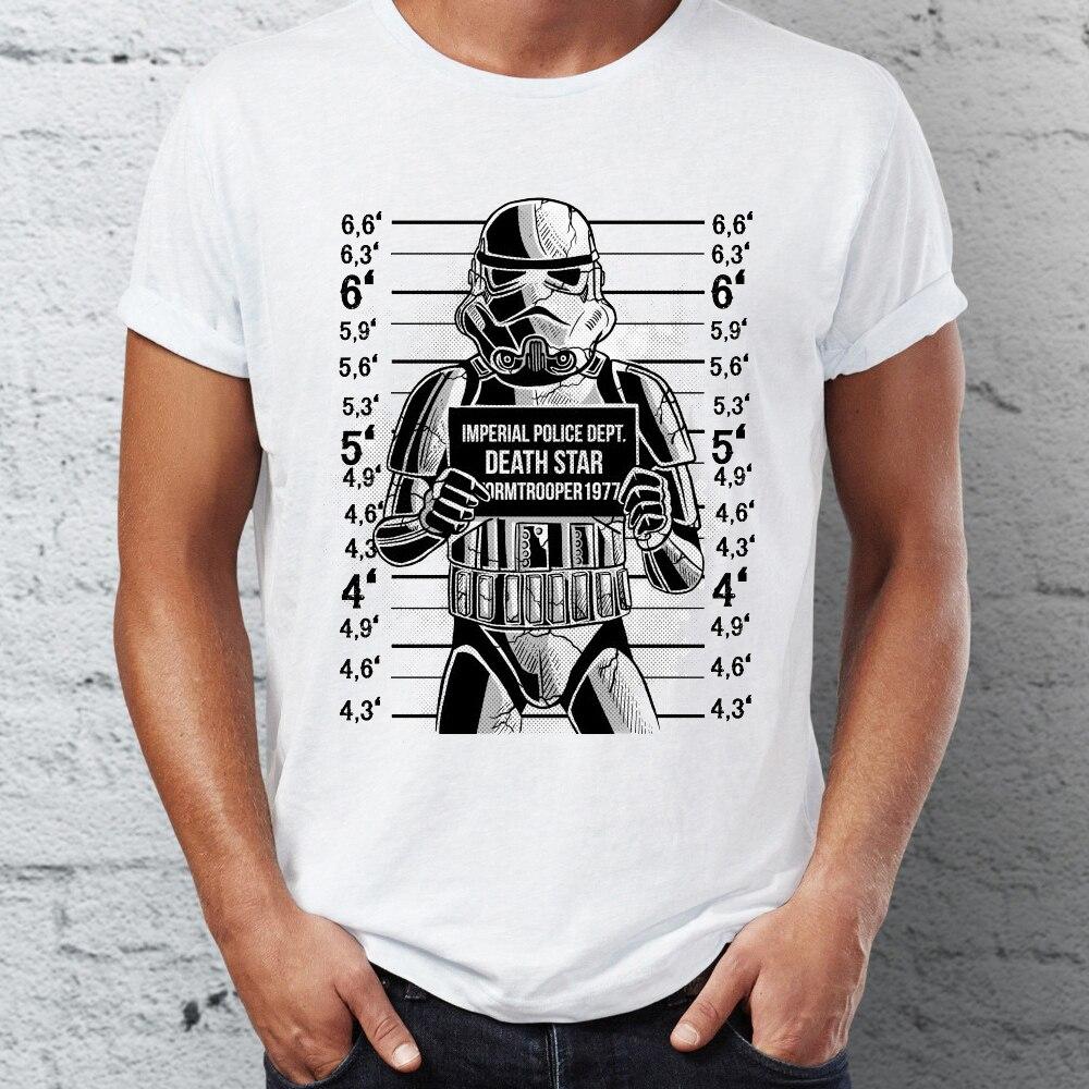 MENS BLACK STAR WARS STORM TROOPER RETRO VINTAGE CREW NECK TEE SHIRT T-SHIRT