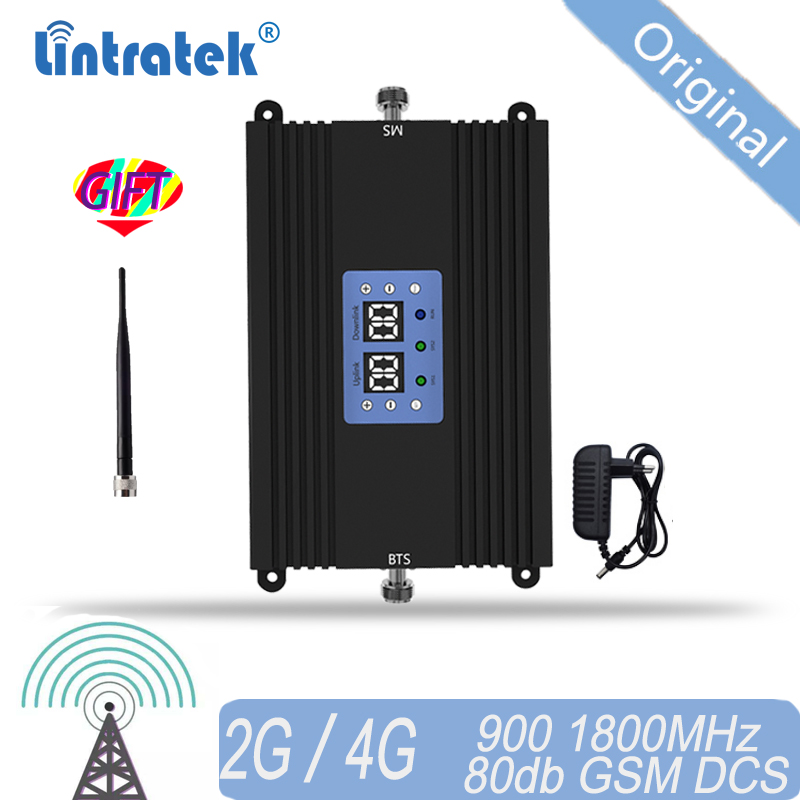 Lintratek 85dB Signal Repeater 2G 3G Dual Band GSM 900 DCS LTE 4G 1800 Cellphone Signal Booster Cellular Signal Amplifier #15
