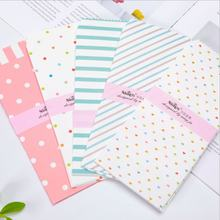 10 шт в лоте смешанный дизайн небольшой свежий конверт полоску