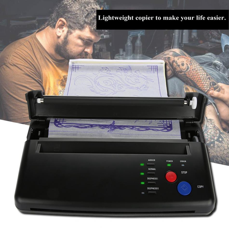 ABVP Lighter Tattoo Transfer Machine Printer Drawing Thermal Stencil Maker Copier For Tattoo Transfer Paper Supply Permanet Make