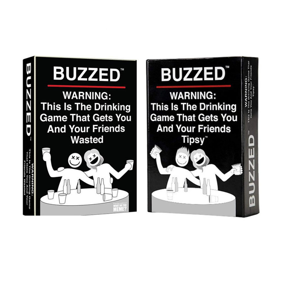 Buzzed The Drinking Game Board Game  Gets You And Your Friends Wasted / Tipsy Card Game Friends Entertainment Party Card Games