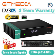 Newest GTmedia V8X Satellite decoder Upgraded by GTmedia V8 Nova DVB-S2 GT media V7s2x Receiver H.265 HD Built in Wifi No app