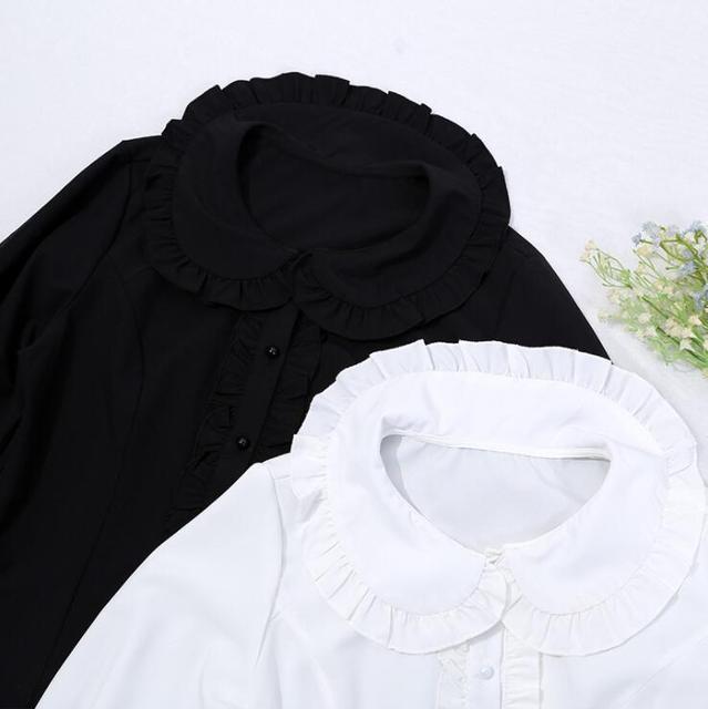 Фото японская студенческая повседневная рубашка в стиле лолиты винтажная