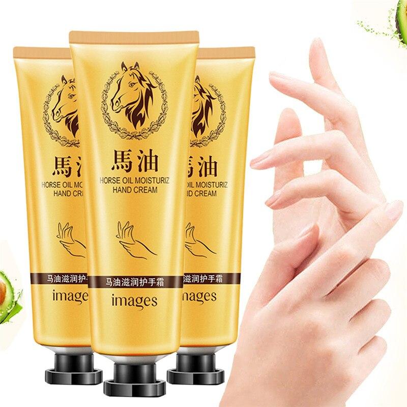 Hot Fashion Horse Oil Repair Hand Cream Anti-Aging Soft Hand Refreshing Whitening Moisturizing Hand Cream Suitable Non-greasy